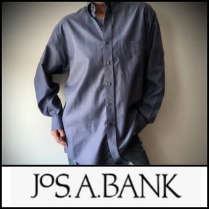Jos. A. Bank Travelers Collection Blue Button Down